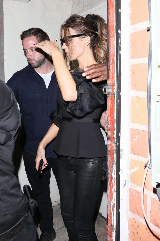 Kate Beckinsale at a restaurant in Brentwood