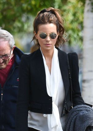 Kate Beckinsale at Heathrow Airport in London