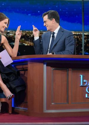Kate Beckinsale at 'The Late Show With Stephen Colbert' in New York