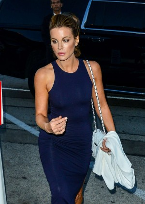 Kate Beckinsale in Tight Dress at Craig's Restaurant in West Hollywood