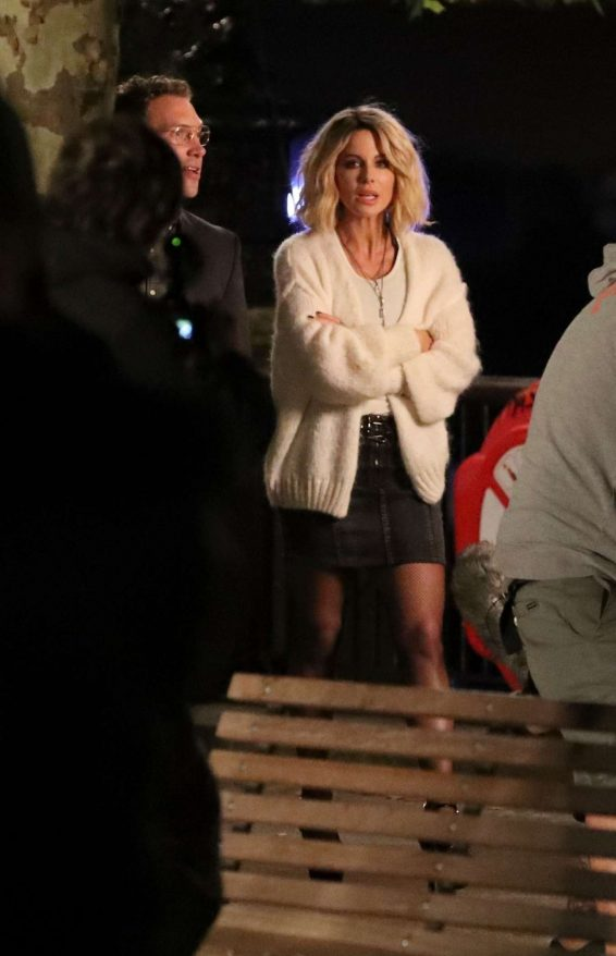 Kate Beckinsale - Filming upcoming action film Jolt in London