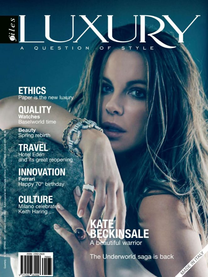 Kate Beckinsale for Luxury Files Spring 2017