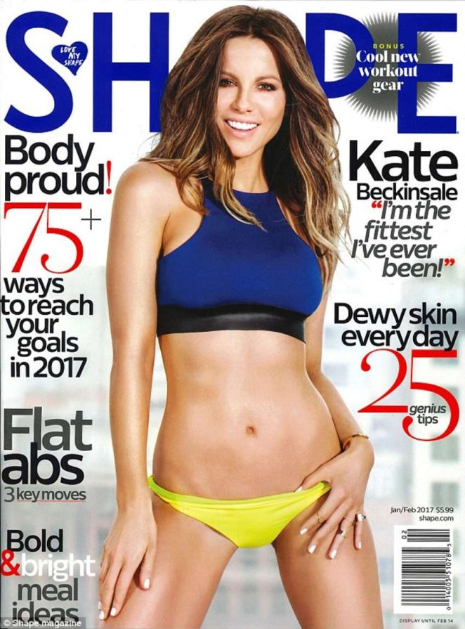 Kate Beckinsale for Shape Magazine Cover (January 2017)