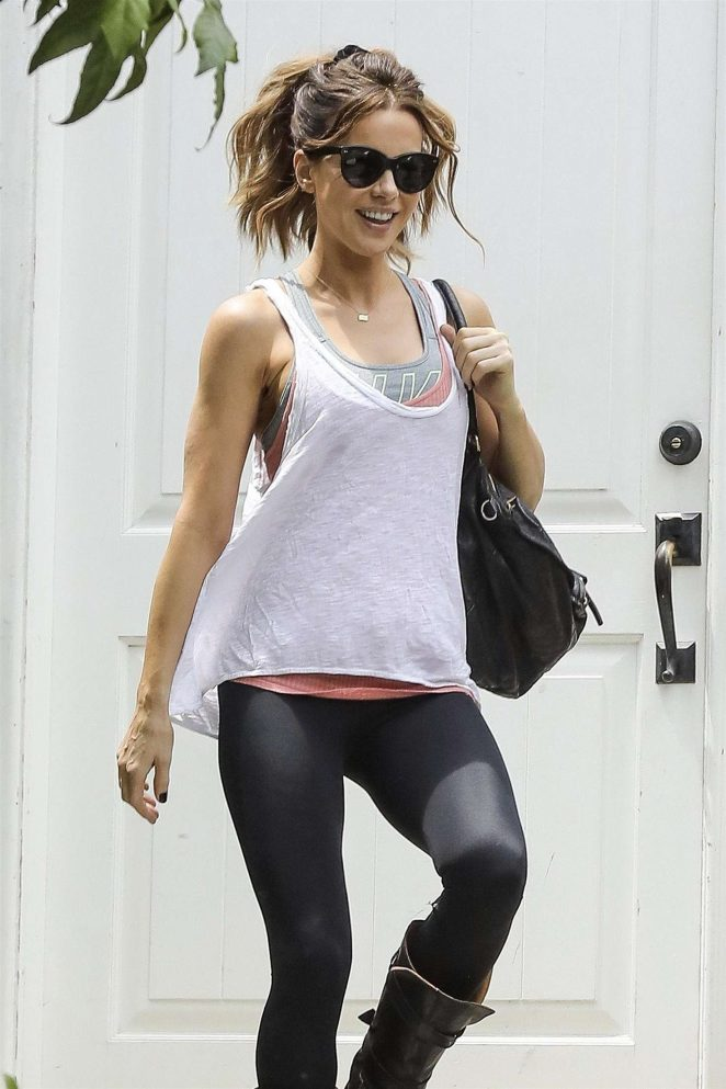 Kate Beckinsale heading to the gym in LA