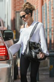 Kate Beckinsale in Black Leggings - Exit a medical building in Los Angeles