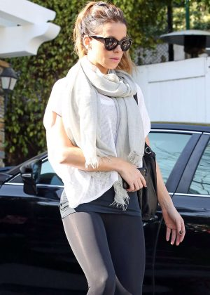 Kate Beckinsale in Leggings - Out in Los Angeles