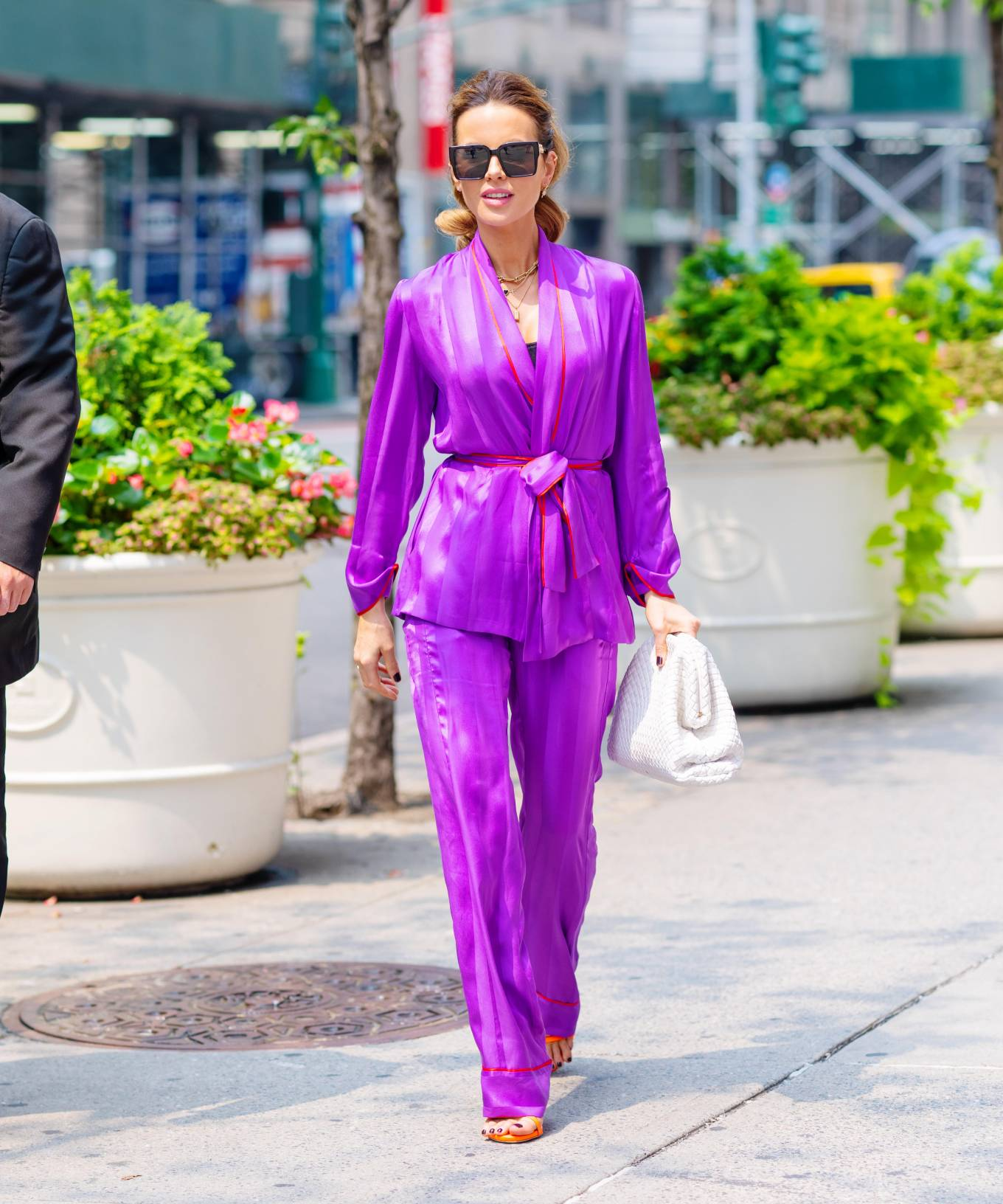 Kate Beckinsale - in purple on 5th Avenue in New York City