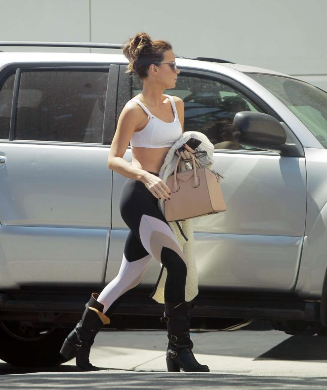 Kate Beckinsale - Leaving the gym in Beverly Hills