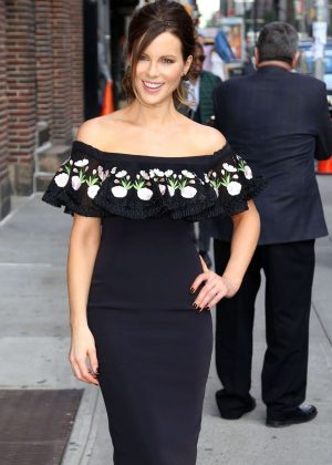 Kate Beckinsale - Leaving The Late Show with Stephen Colbert in NYC