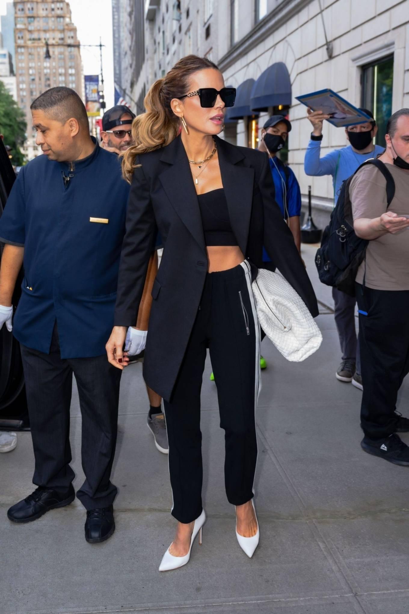 Kate Beckinsale 2021 : Kate Beckinsale – leaving The Ritz-Carlton Hotel in New York-12