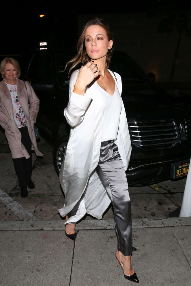 Kate Beckinsale - Night Out at Craigs in West Hollywood