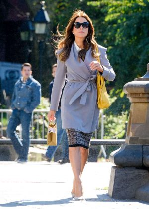 Kate Beckinsale on set of 'The Only Living Boy' in New York