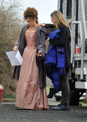 "Kate Beckinsale - Filming ""Love and Friendship"" set in Dublin"