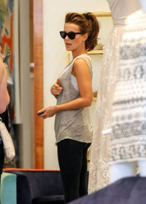 Kate Beckinsale in Tight Jeans Shopping in LA