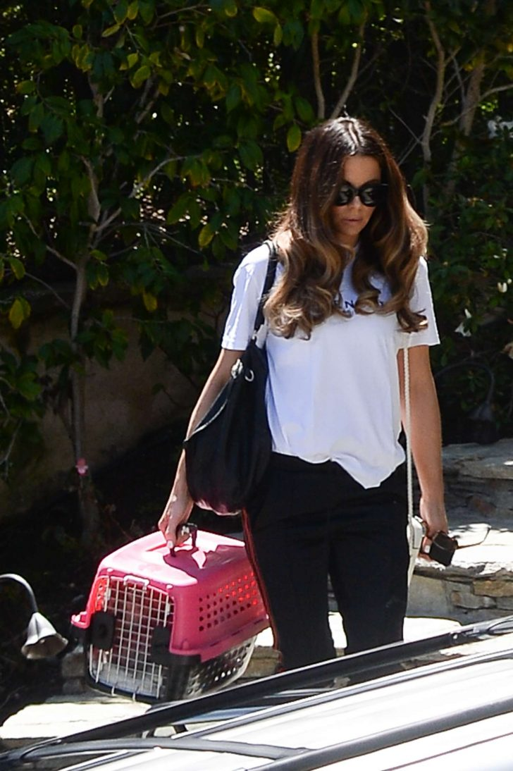 Kate Beckinsale: Takes her cat to work at the Smashbox studios -06