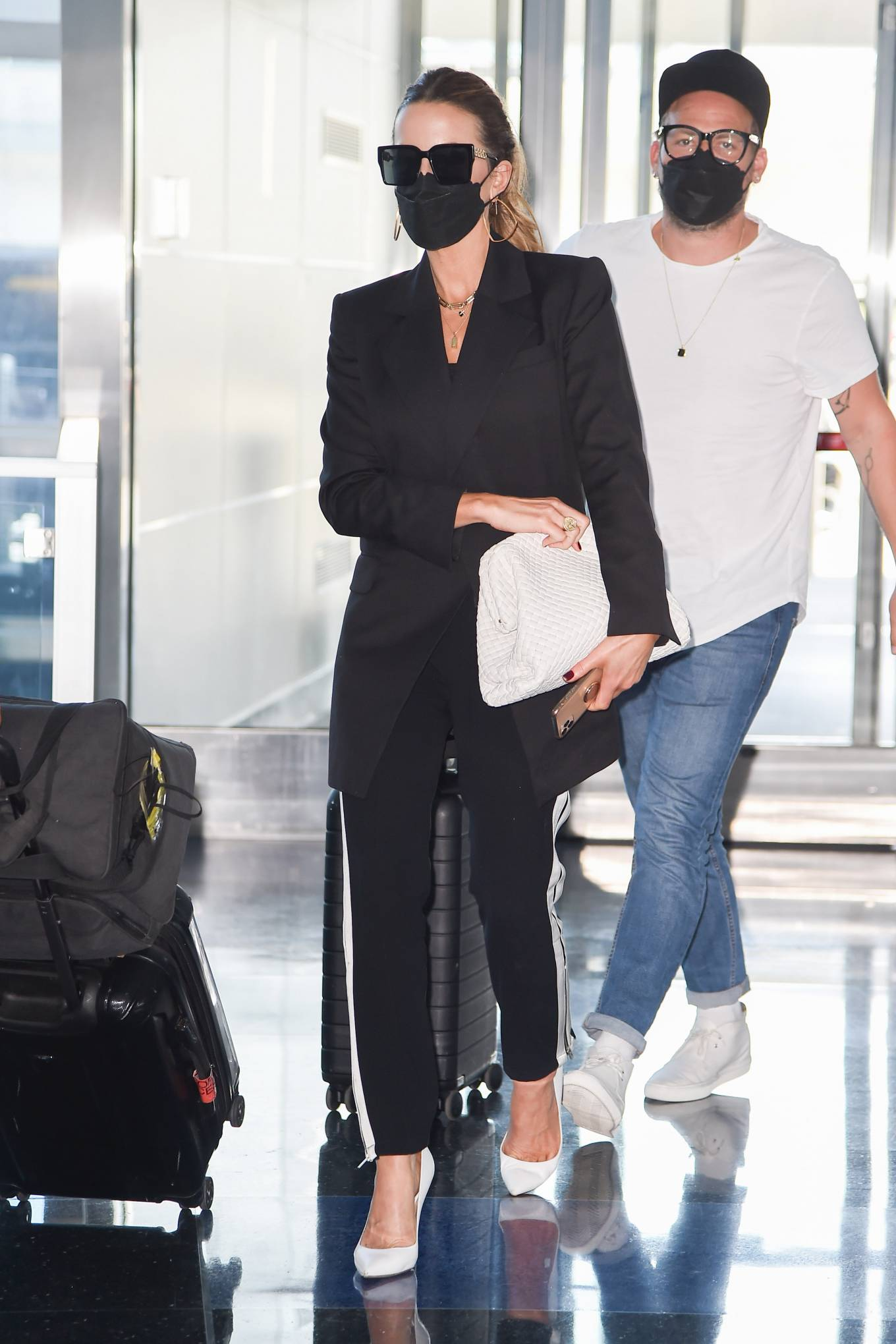 Kate Beckinsale - With daughter Lily Mo Sheen and David Schechter arriving at JFK