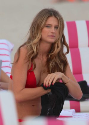 Kate Bock - Bikini candids at the beach in Miami Beach