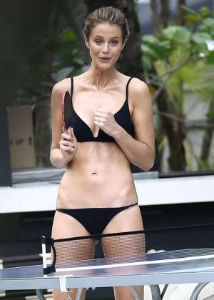 Kate Bock in Black Bikini on Photoshoot in Miami
