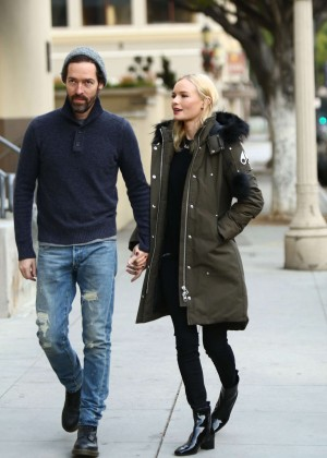 Kate Bosworth and husband out in the Century City
