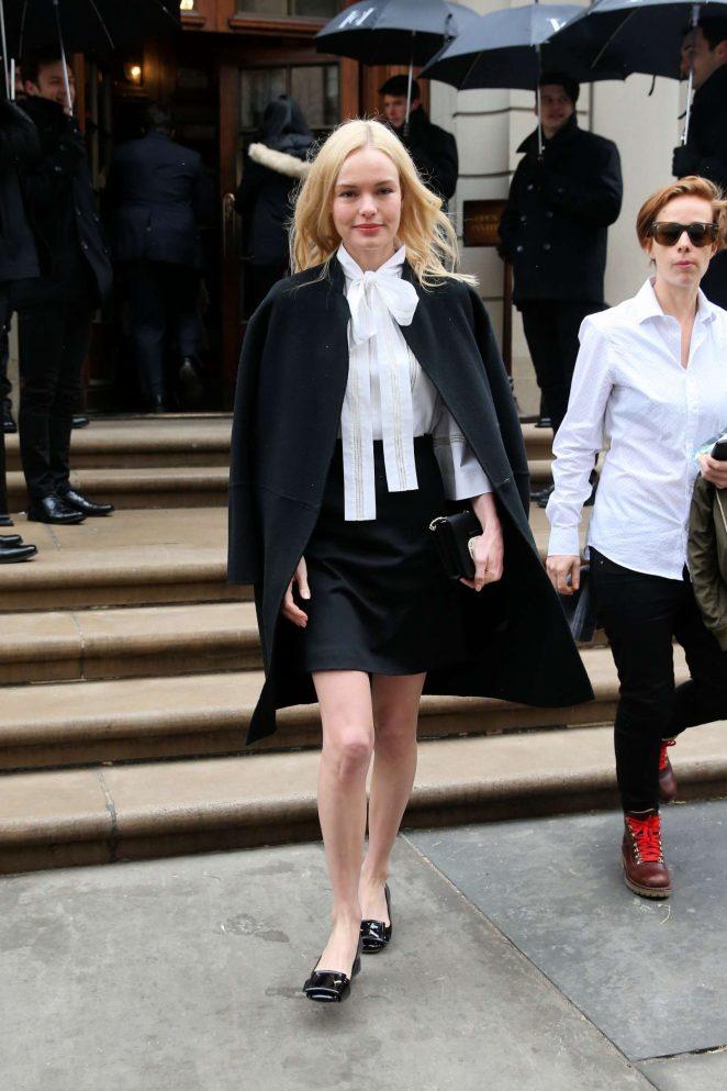 Kate Bosworth – Arrives to Caroline Herrera SS17 Show in New York City