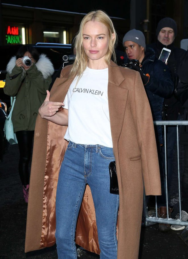Kate Bosworth - Arriving at the Calvin Klein Collection Show 2017 in NY