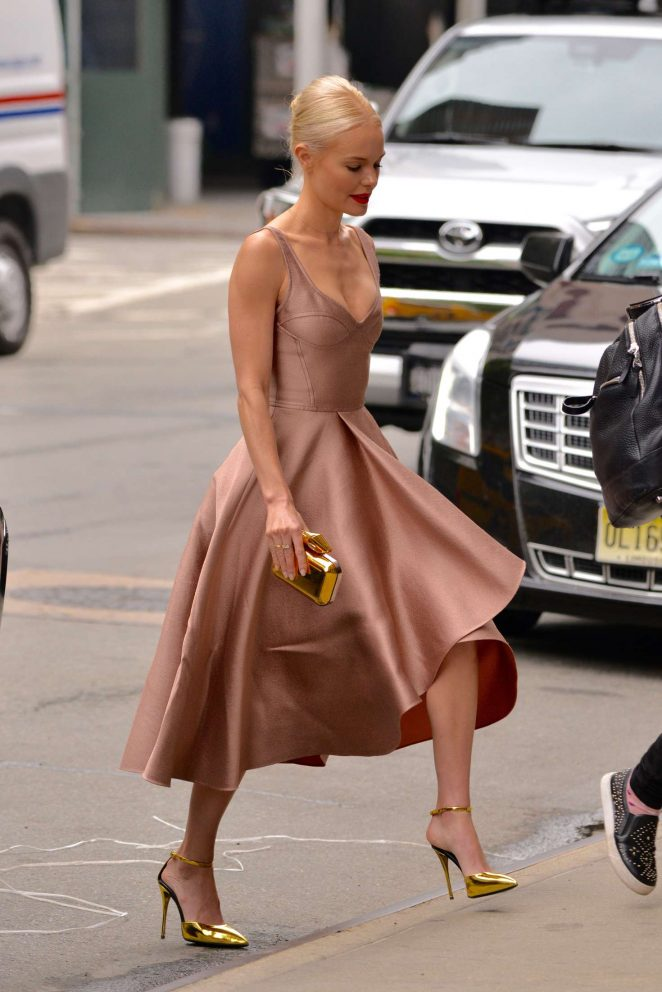 Kate Bosworth - Heads to launch of ACZONE Gel in New York