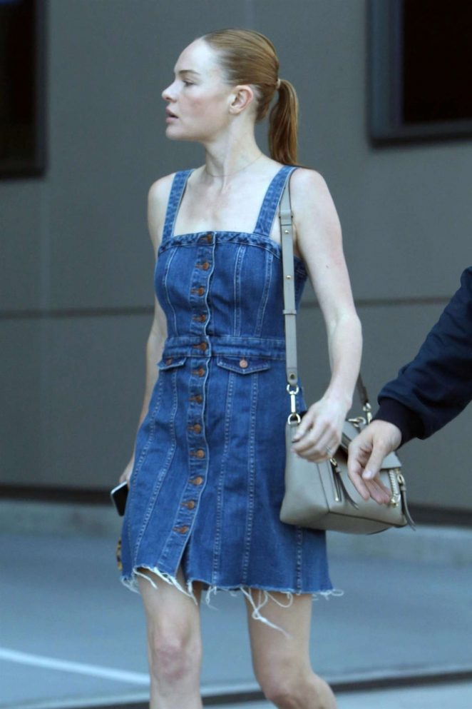 Kate Bosworth in Jeans Dress out in Hollywood