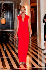Kate Bosworth in Red Dress - Leaves Mark Hotel in New York