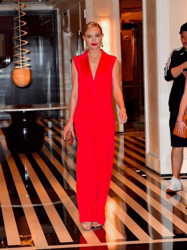 Kate Bosworth in Red Dress - Leaves Mark Hotel in New York