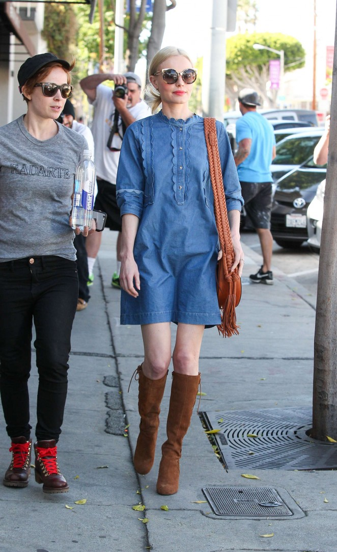 Kate Bosworth in Mini Dress Leaving a hair salon in West Hollywood