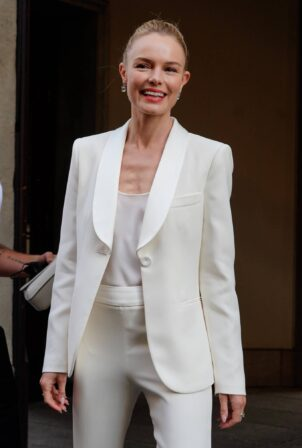 Kate Bosworth - Pictured during Milan Fashion Week Men's Collection 2022