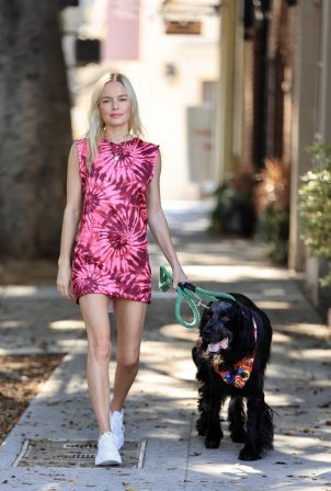 Kate Bosworth - Taking her dog out for walk in Los Angeles