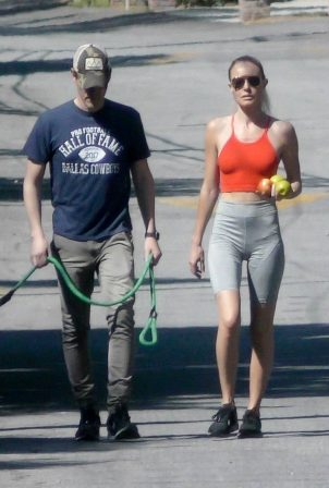 Kate Bosworth - Walk with her husband Micheal Polish in LA