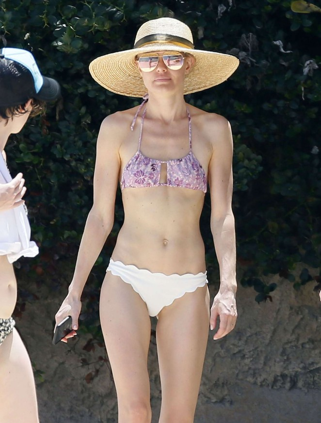 Kate Bosworth in a bikini at a beach in Hawaii