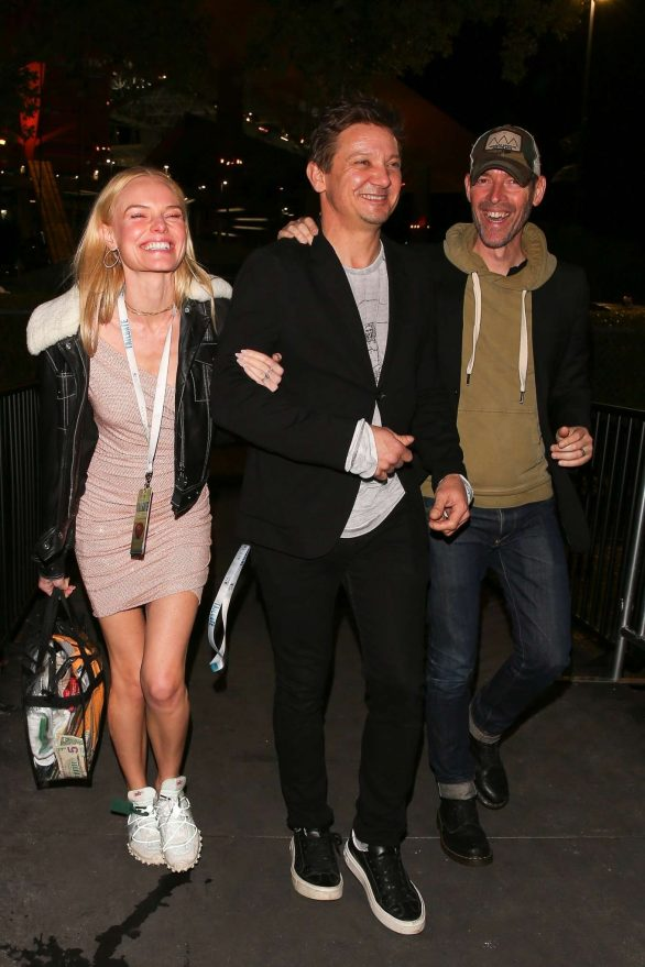 Kate Bosworth with Jeremy Renner leave the 2020 Super Bowl