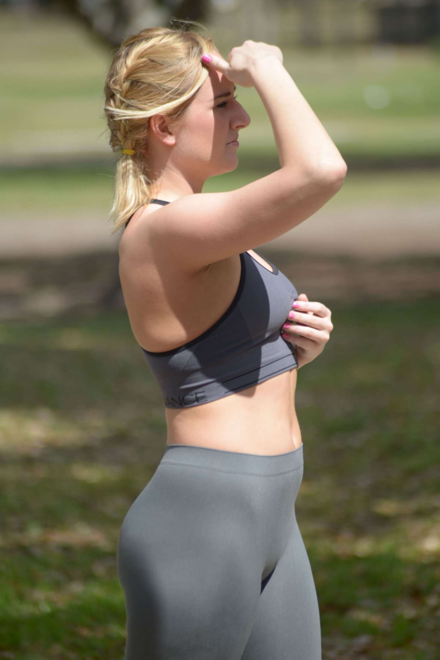 Kate England workout at a park in Miami -17 - GotCeleb