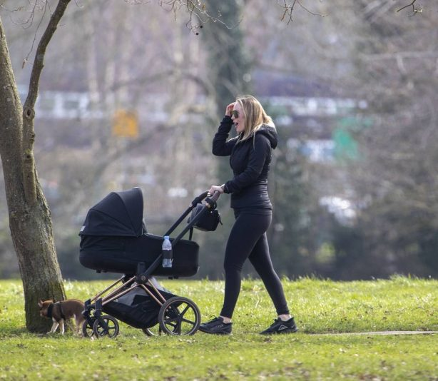 Kate Ferdinand - Pictured for the first time since giving birth to baby boy Cree