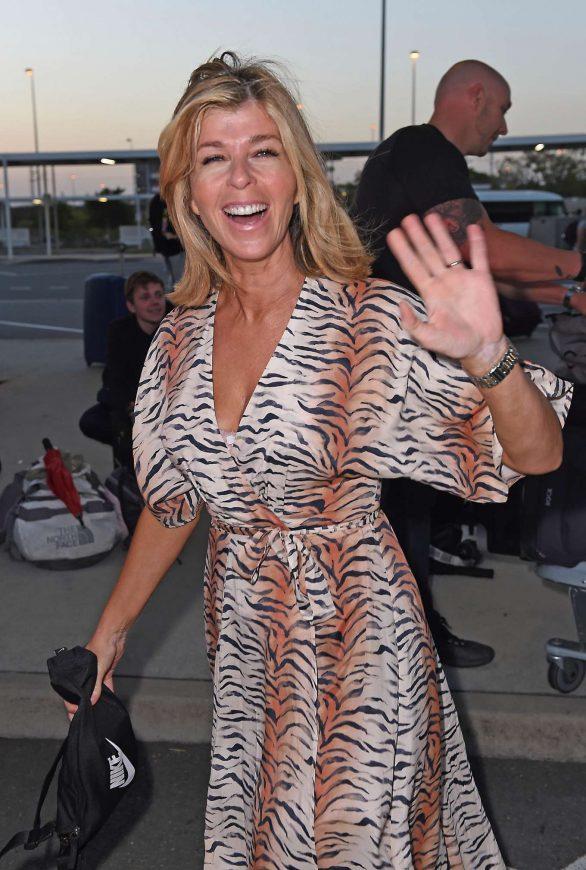 Kate Garraway - Arrives at Brisbane Airport in Australia