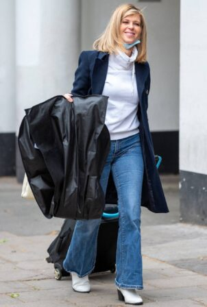 Kate Garraway - arriving at Global Studios in London