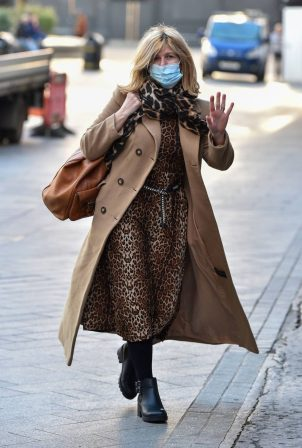 Kate Garraway - In animal printed attire out in London