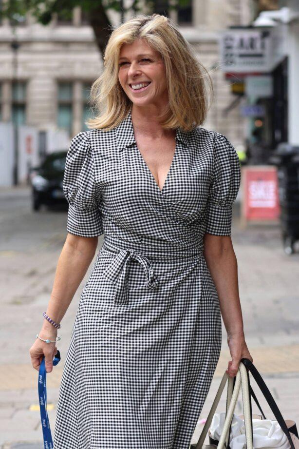 Kate Garraway - Seen arriving at Global Studios in London