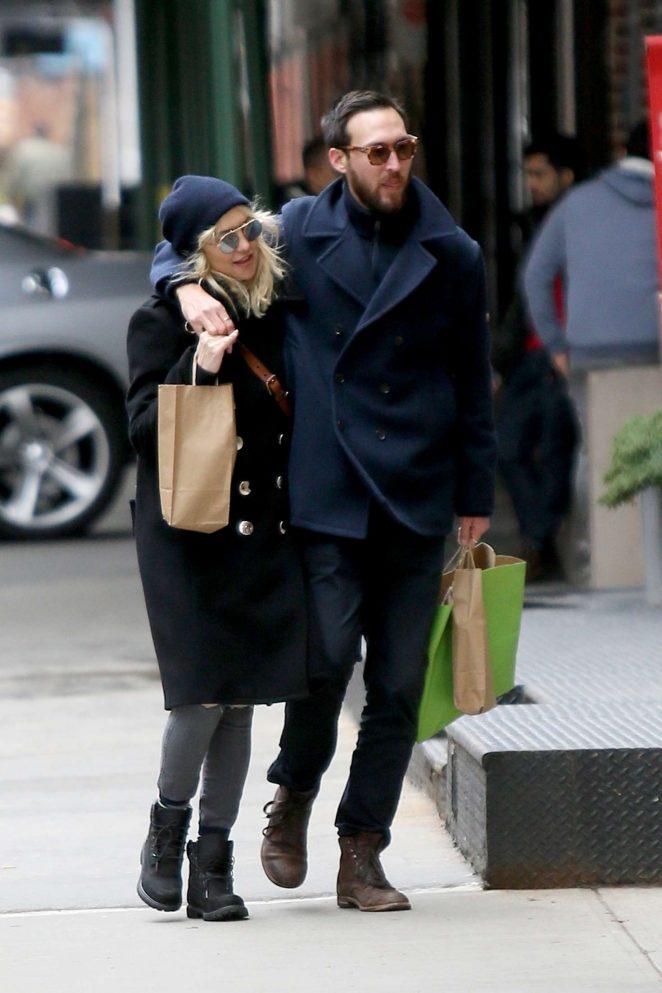 Kate Hudson and Boyfriend Danny Fujikawa out in New York