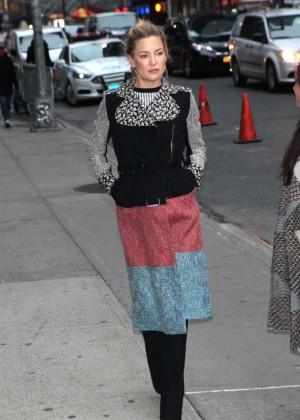 Kate Hudson - Arrives at 'The Late Show with Stephen Colbert' in New York