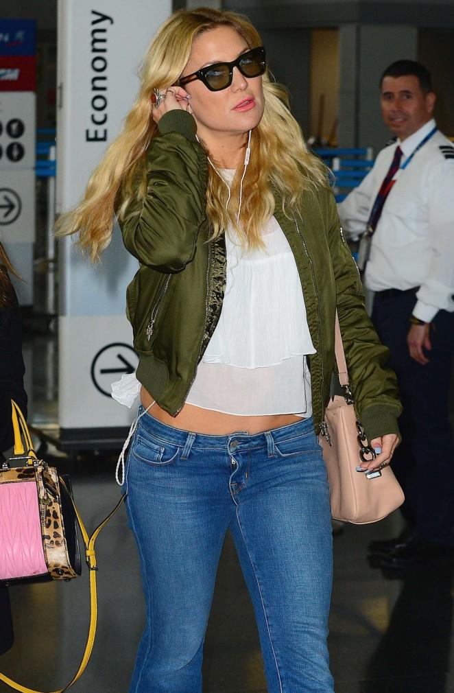 Kate Hudson at JFK Airport in NY