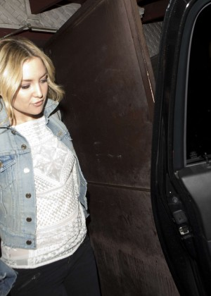 Kate Hudson at Pace Restaurant in Los Angeles