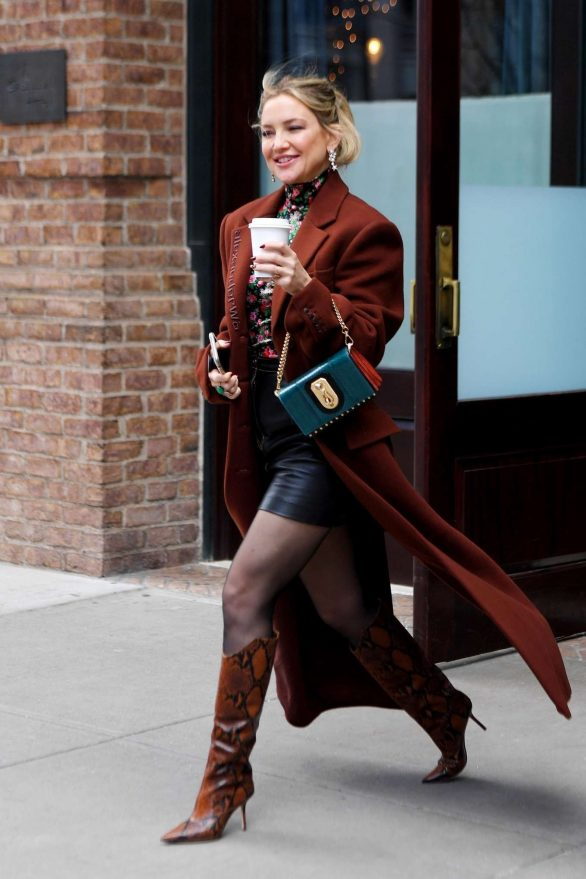 Kate Hudson - Exiting the Greenwich hotel in New York