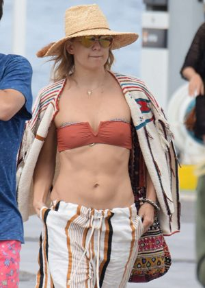 Kate Hudson in Bikini top in Formentera
