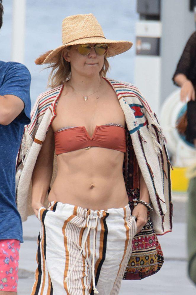 Kate Hudson in Bikini top in Formentera