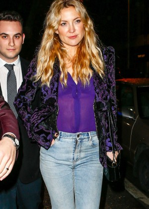 Kate Hudson in jeans out in New York