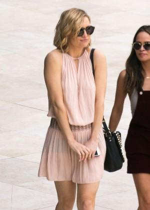 Kate Hudson in mini dress out in Miami